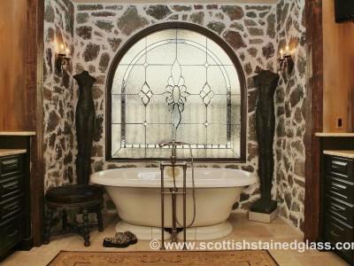 bathroom stained glass denver