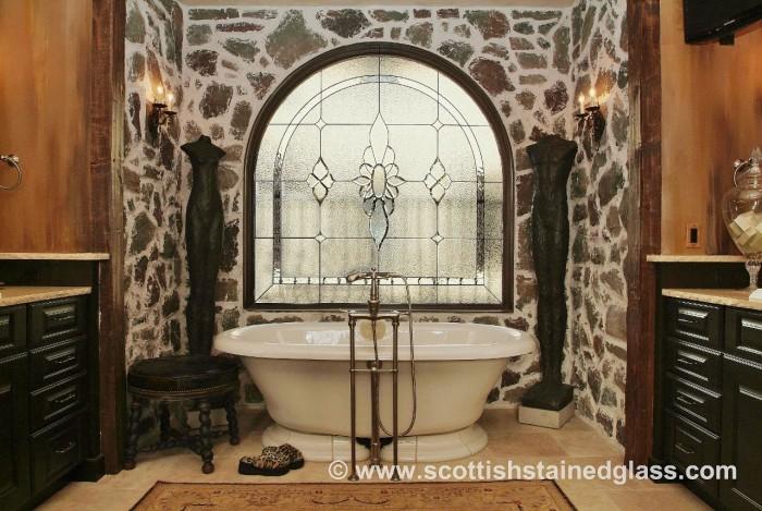 bathroom stained glass littleton