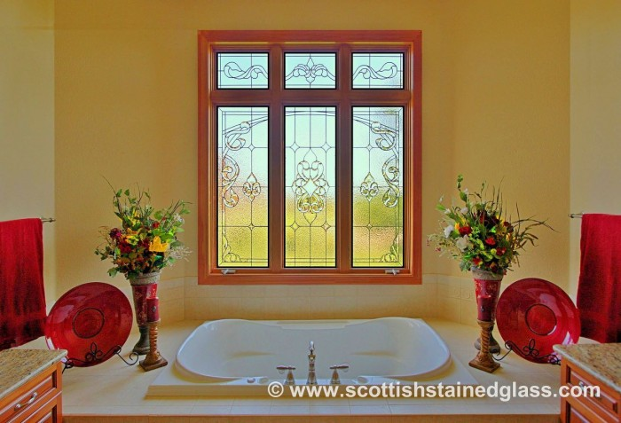 bathroom stained glass westminster