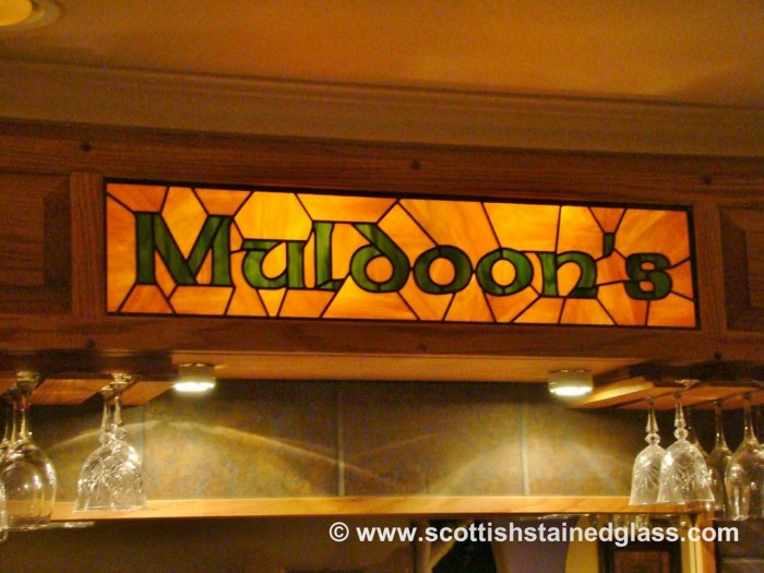 commercial stained glass sign