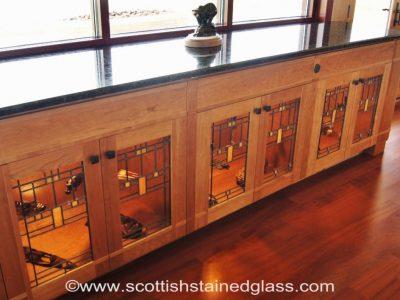 frank lloyd wright inspired stained glass denver