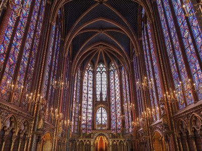 sainte chapelle church stained glass