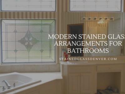 modern bathroom stained glass denver